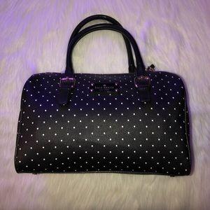 Kate Spade Black/White Polkadot Barrel Bag